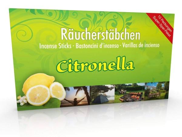 10 Packungen Citronella Räucherstäbchen